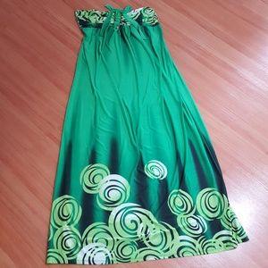 Gorgeous green summer dress